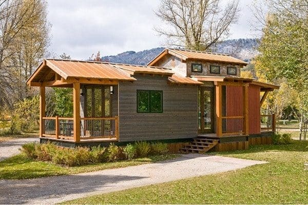 The wheelhaus caboose wins big on style points for 600 sq ft cabin