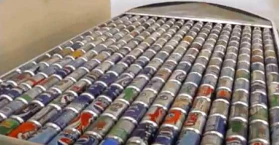 Yes, You Can. How to Heat a Home with 240 Recycled Cans.