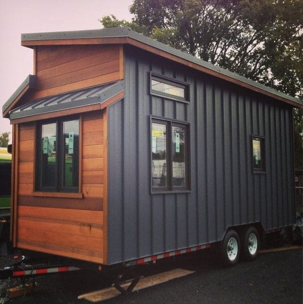 The cider box displays superb craftsmanship for Energy efficient tiny homes