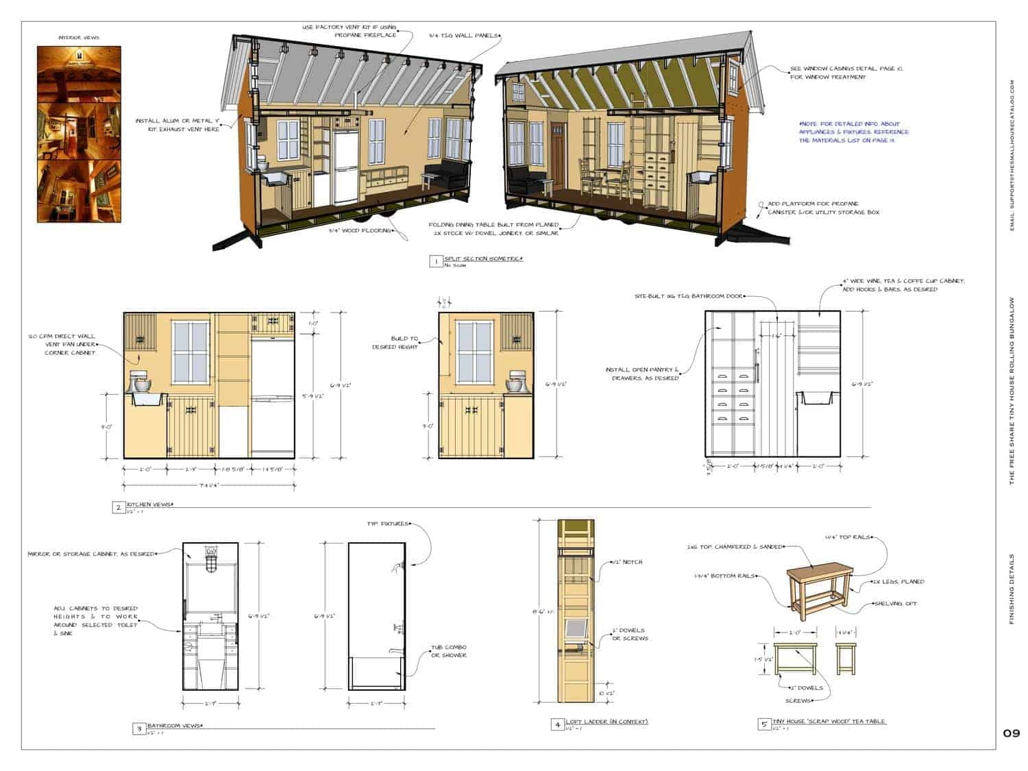 Get free plans to build this adorable tiny bungalow for Tiny house cabin plans