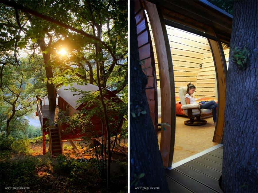 7 whimsical tree house escapes we simply adore. Black Bedroom Furniture Sets. Home Design Ideas