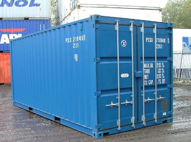 Here's what we're working with - a basic 8 foot wide, 40 foot long container.