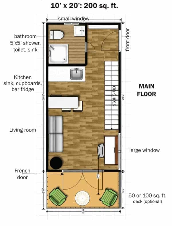 Simple Elegance In This Two Story 350 Sq Ft Micro Home
