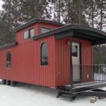 Bespoke Park Model RV Home Built From a Train Caboose
