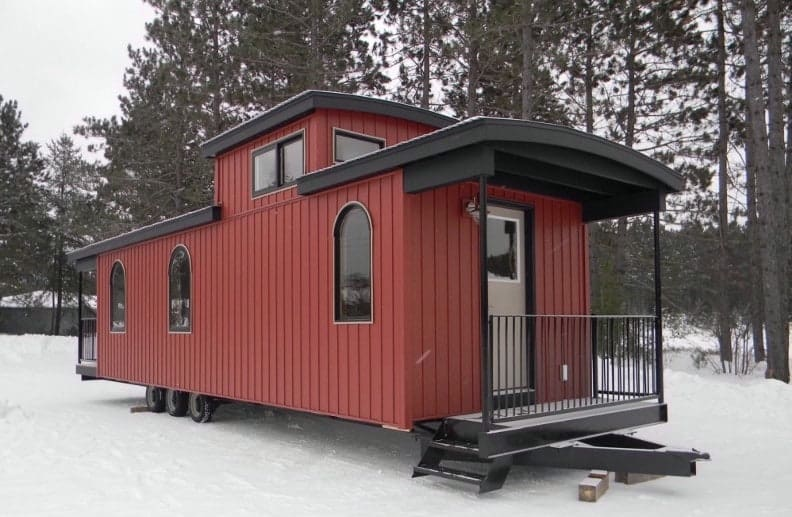 Home Built From a Train Caboose