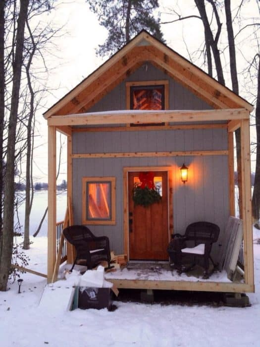 Family-Builds-Off-Grid-Lakeside-Cabin-Near-Columbus-Ohio-porch