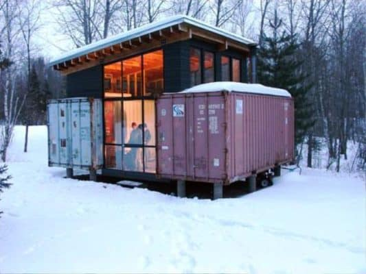Two Brothers + Two Containers = One Amazing Cabin