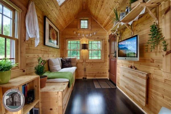 The Tiny Tack House was designed & build by Malissa and Christopher Tack
