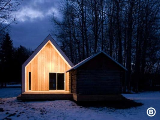Small-Cabin-The-Warburg-House-Bioi-Cabin-at-Night