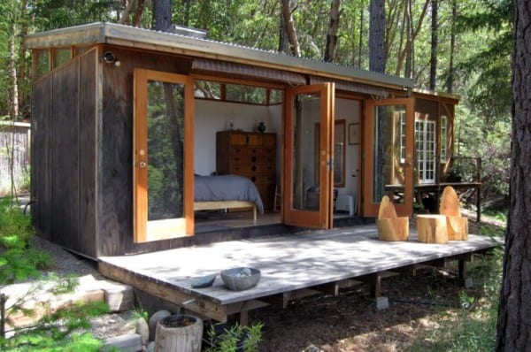 carves a weekend retreat in northern california tiny house for us
