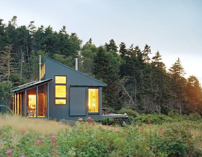 She Made Her Father's Dream A Reality, And Built This Offgrid Cabin On a Hidden Island in Maine