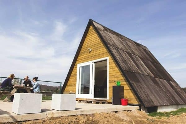 Couple Finds Surprising Amount of Comfort in Their Rebuilt A-Frame
