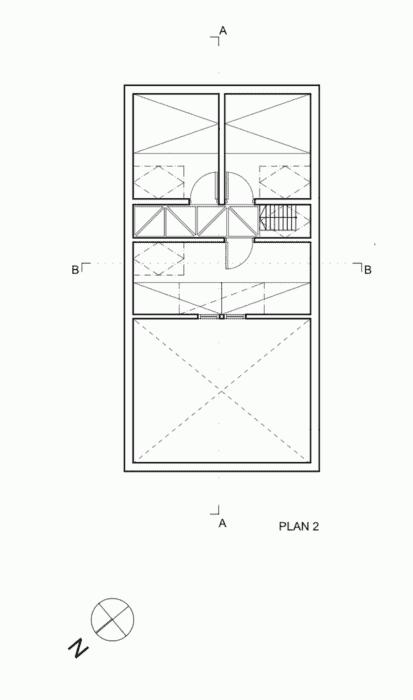 54dabc09e58ecec72f0000a8_cabin-laksvatn-hamran-johansen-arkitekter_second_floo_plan-590x1000