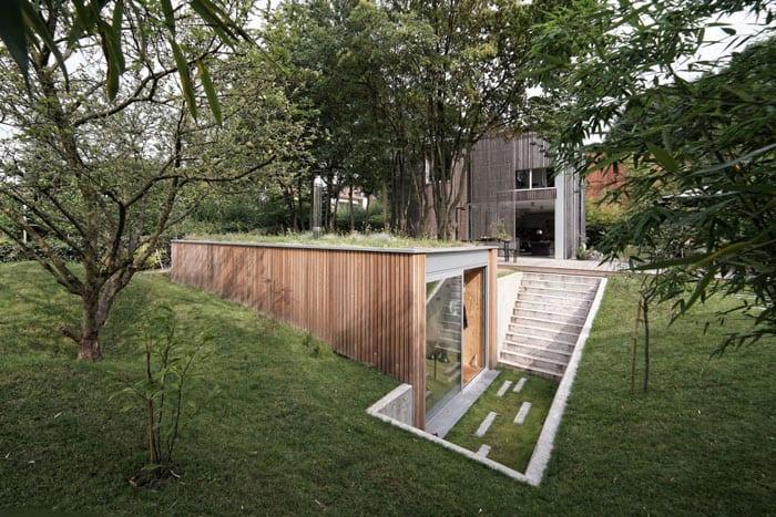 Atelier-PamJenny-l'escaut-Belgium-Sunken-Studio-Exterior