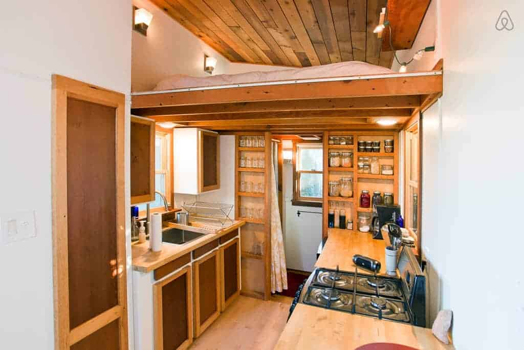 12 tiny house kitchen designs we love for Tiny house pictures and plans