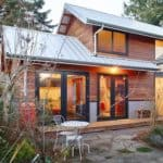 Salvaged Style: 550sf Backyard Cottage Built With Blue Jeans, Bowling Alley Scraps