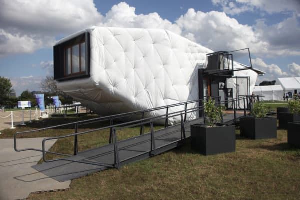 Inflatable Bouncy House Or Solar Concept Home?