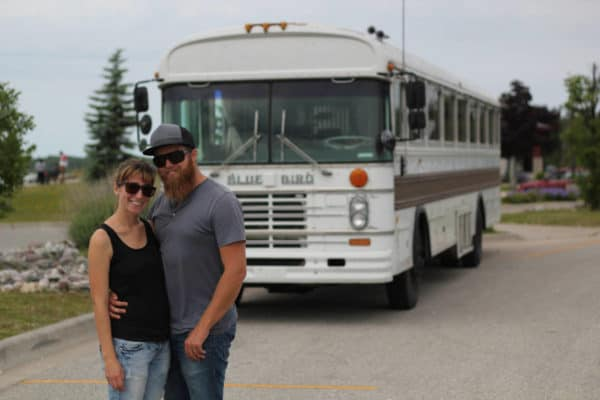 Couple Buys A Used 1984 Bluebird Bus For $2k, Makes It Into A Home