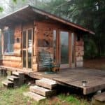 Secret Offgrid Cabin In The Forest Built From Salvaged Materials For $1000