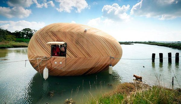 The Exbury Egg Is Unlike Any Houseboat You've Seen Before