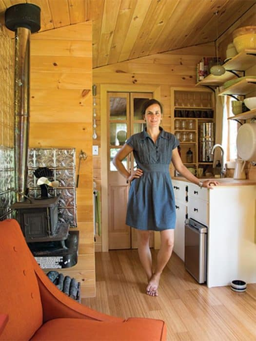 Rowan Kunz owner & Builder of a small trailor house