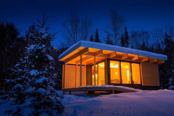 "Gorgeous Chalet ""Parkitecture"" Courtesy Of The Quebec Government"