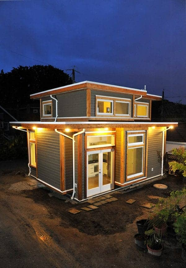 small-house-by-laneworks-1 - Newlyweds Build Tiny Home In Parents' Backyard