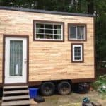 """How A Young Couple Built This Adorable Mortgage-Free """"Pod"""" On Wheels For A Measly $11k"""