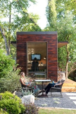 Rustic Chic 92 Square Foot Backyard Office