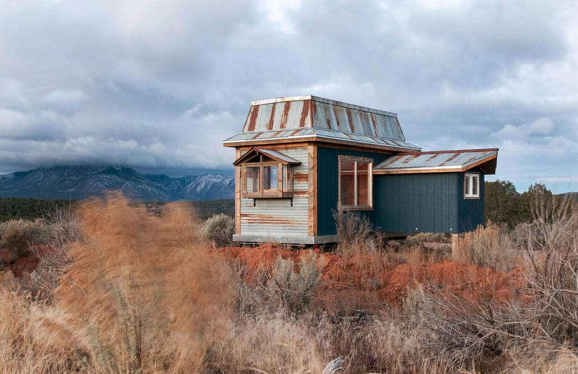 Tiny Mountain Houses Location: Rustic Tiny House On Wheels Includes A Unique Addition