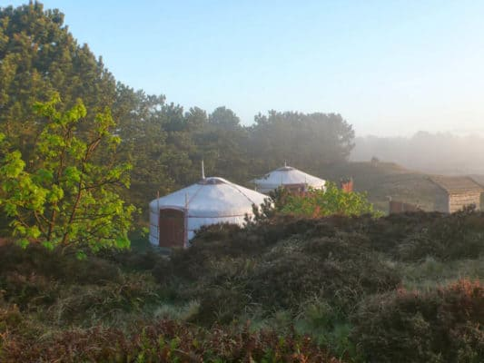 Texel Yurts Provide Simple Yet Luxurious Lodging