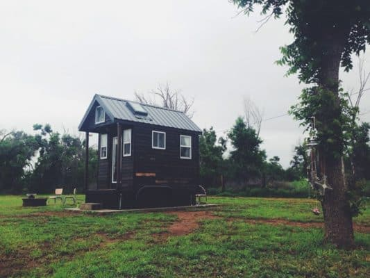 He Built This 84sf Micro Home On A Foundation To Live Debt-Free