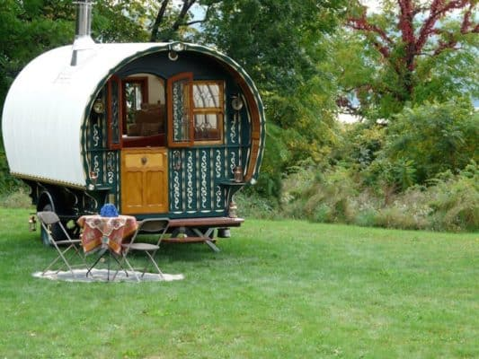 Hand-Built Gypsy Wagon Overflowing With Antique Detail