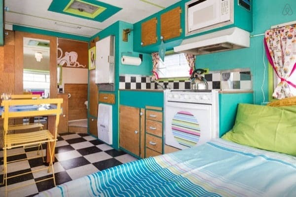 Decorating a small half bathroom - Vintage Trailer Restoration With A Hip Amp Colorful Vibe Tiny House