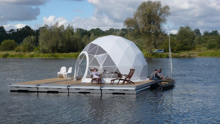 The Zendome A Floating Glampsite