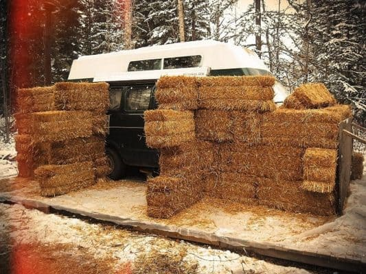 He Started With A Van, Added Hay Bales, And Made A Home
