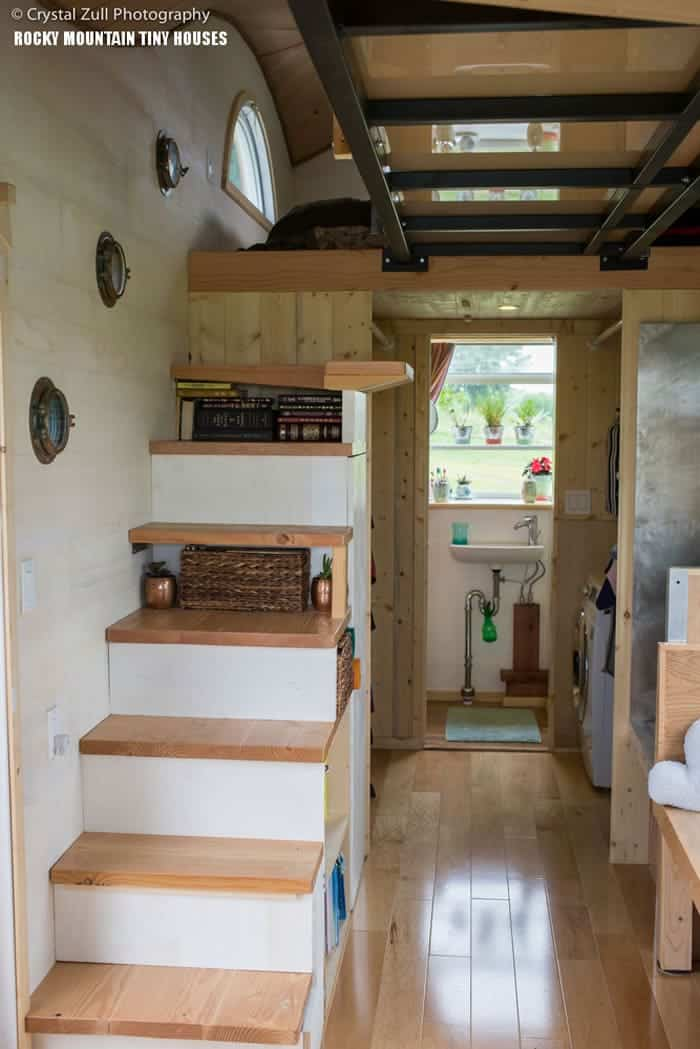 12 ingenious tiny house design features we love Inside staircase in houses