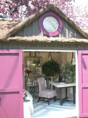 """She Shed"" Or Chic Shed? Step Inside This Estrogen Fueled Transformation"