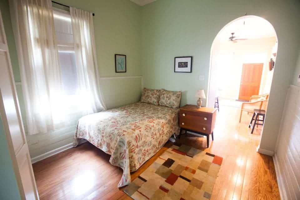 The shotgun house might be small but it brings a big history for Irish bedroom designs