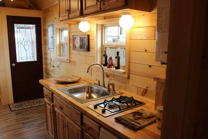 12 tiny house kitchen designs we love. Black Bedroom Furniture Sets. Home Design Ideas
