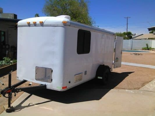 Cargo Trailer Made Into A Cozy Rolling Home For $2k