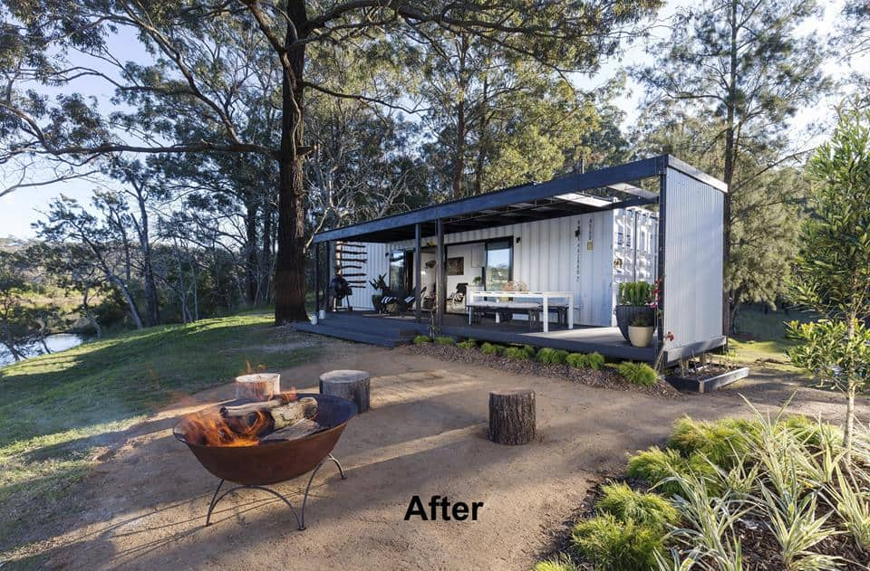 A bloody spectacular 50k shipping container home packed for Better homes and gardens australia episodes