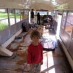How Does A Family of Six Live Comfortably In A Renovated School Bus?