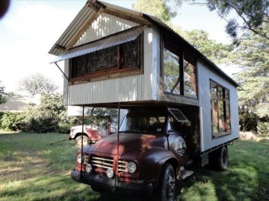 This Guy Turns Old Trucks Into Uniquely Rustic New Houses