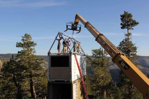 Container-Cabin-Tahoe-National-Forest-Metal-Roof-Framing
