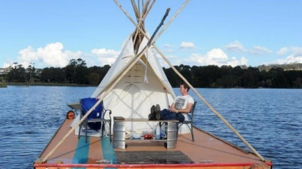 College Student Fights The System, Lives On A Floating Tepee