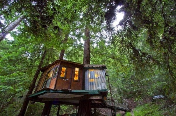 Enchanting Redwood Treehouse In The Mountains