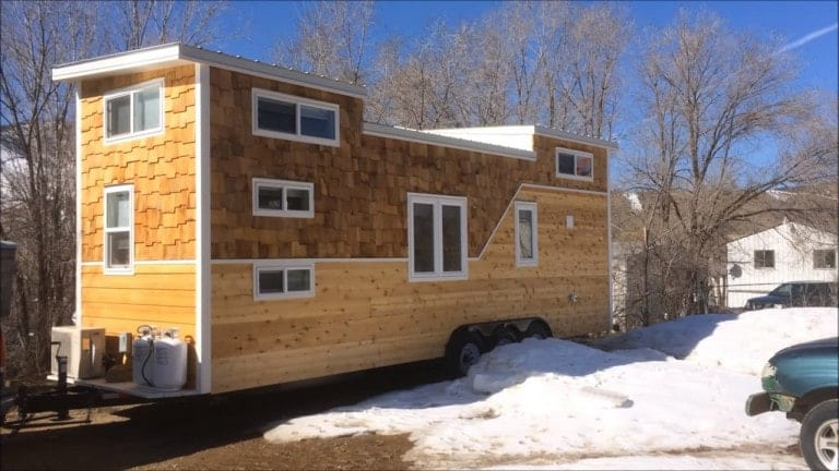Family of four lives comfortably in this 224sf home for Tiny home for family of 4