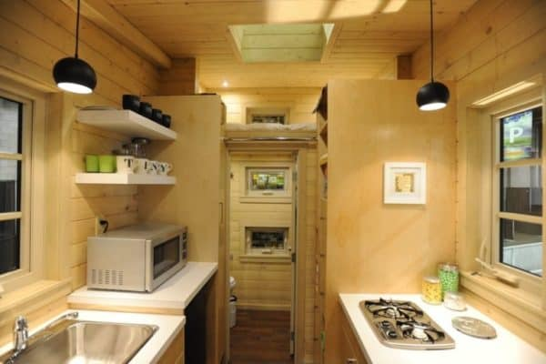 Sleek Classy Dragonfly Tiny Home With Folding Porch