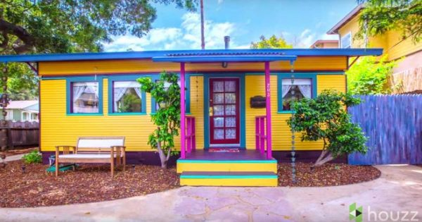 Grandparents Convert Two Old Streetcars Into One Strikingly Beautiful Home